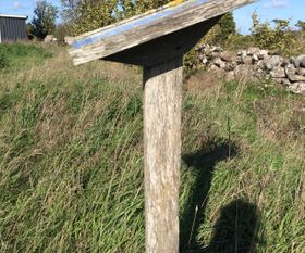 Example of small sign/sign posts Gotland