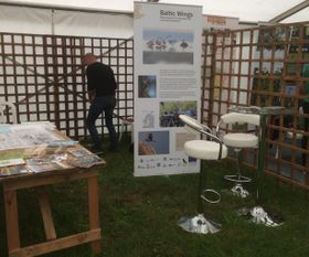 Building our stand at the Birdfair 2019