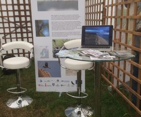 Baltic Wings stand at the Birdfair 2019